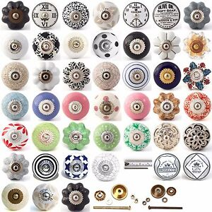 Multi coloured ceramic knobs drawer pull cupboard door knobs ...