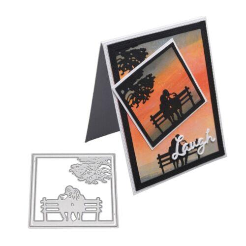 Lovers Cutting Dies Stencil DIY Scrapbooking Embossing Paper Card Craft Decor
