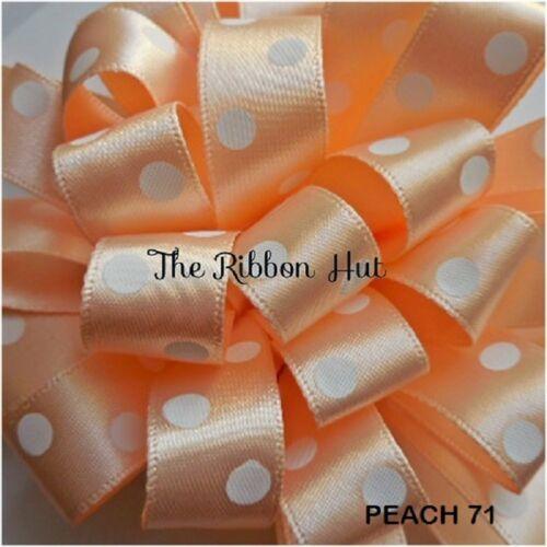 Crafts 2 Metres Polka//Spotty//Dotty  Ribbon by Berisfords-15mm