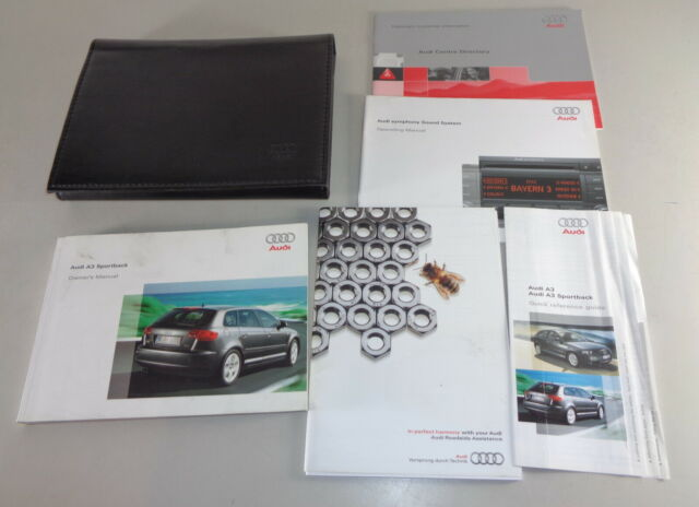 Owner's Manual + Wallet Audi A3 Sportback/Quattro 8P From ...