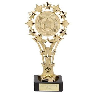 Shiny-Gold-All-Star-Award-Trophy-Black-Marble-5-034-Best-Shot-Table-of-the-Week
