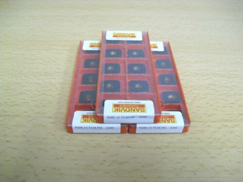 10PCS Authentic SANDVIK R245 12 T3 M PM 4240 INSERT