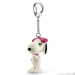 Happy-Belle-Snoopy-039-s-Sister-Figurine-Keychain-Peanuts-Figure-Key-Chain-22038
