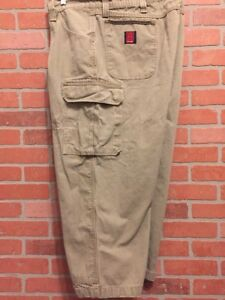 wrangler riggs workwear mens cargo pants size 50 carpenter jeans