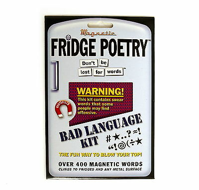 MAGNETIC FRIDGE POETRY (The BAD LANGUAGE kit) 400+words