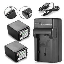 2 Pack BP-827 Battery+Charger For Canon VIXIA HG20 HG21 HG30 HFG10 HFM41 HFM400