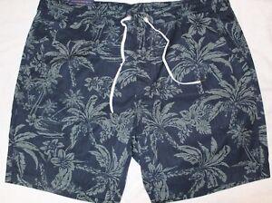 Polo-Ralph-Lauren-Big-and-Tall-Mens-Blue-Tropical-Beach-Shorts-NWT-Size-2XB
