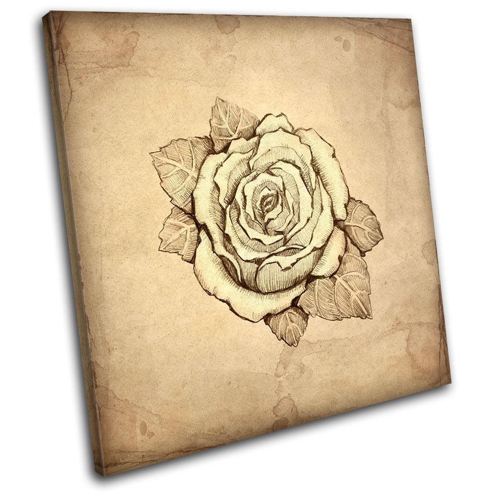Abstract Rose Floral SINGLE TOILE murale ART Photo Print