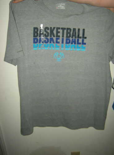 Size L Brand New Mens Gray /& Blue Under Armour Charged Cotton Loose Fit Shirt