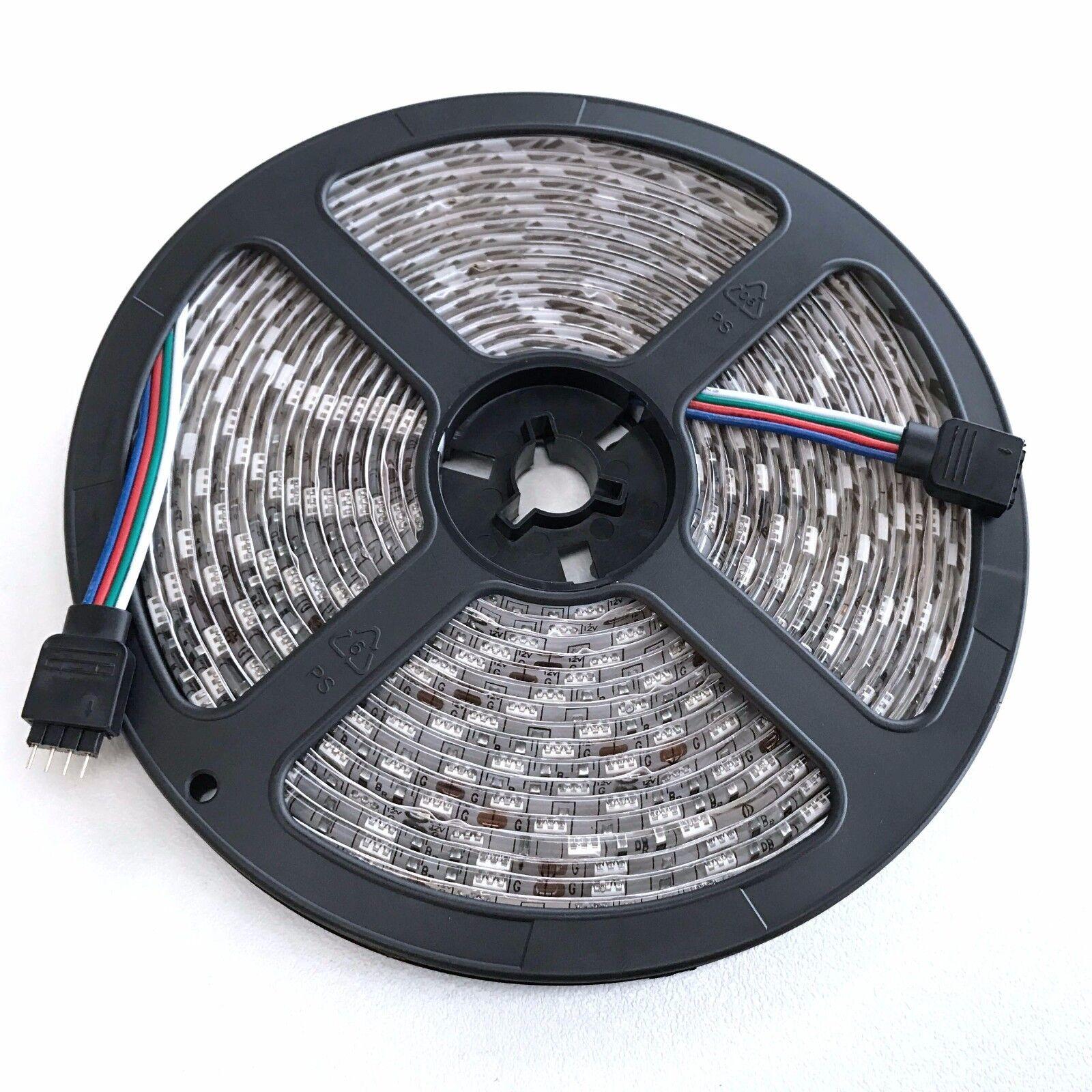 Waterproof 5050 RGB 5M 300 LED SMD LEDS Strip Light 12V 44 KEY IR