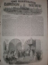 King Otto Otho of Greece at Athens cathedral 1854 old  print