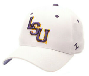 LSU-LOUISIANA-ST-STATE-TIGERS-WHITE-NCAA-FITTED-SIZED-ZEPHYR-DH-CAP-HAT-NWT