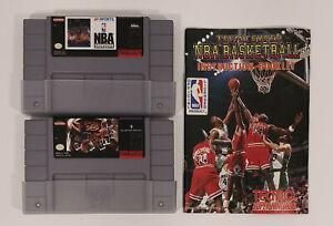 Vintage Lot of 2 Nintendo SNES Sports Games NBA Showdown Boxing Legends+More LNC