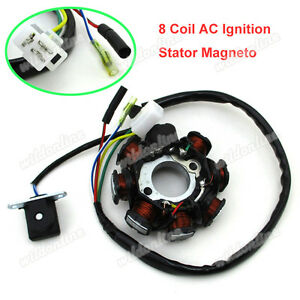 Magneto-Zuendung-Stator-AC-8-Spulen-fuer-GY6-50cc-Moped-Scooter-Go-Kart-ATV-Quad