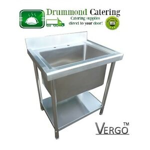 Image Is Loading NEW VERGO Deep Pot Sink Stainless Steel Large