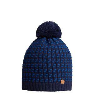 CMP-BEANIE-WINTER-HAT-POMPOM-HAT-BLAU-Fleece-Warming-Pattern