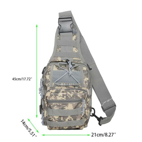 HOT Unisex Fany Pack Single Shoulder Bag Tactical Messenger Crossbody Chest Bags