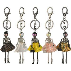 Crystal-Rhinestone-Keyring-Keychain-Charm-Pendant-Bag-Purse-Car-Key-Chain-Ring