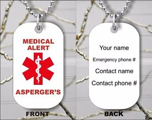 ASPERGER-039-S-MEDICAL-ALERT-PERSONALIZED-DOG-TAG-PENDANT-NECKLACE-dkj8Z
