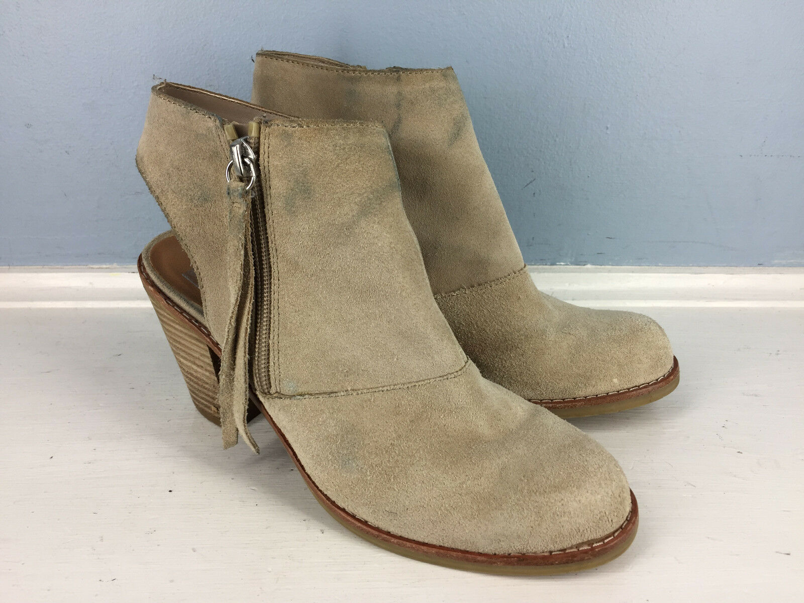 Dolce Vita DV Brown Suede Leather 6.5 booties Career Casual
