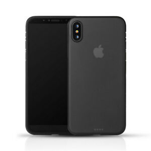 new arrivals d0c44 feec1 Details about 0.3mm Black Slim Matte PP Ultra-Thin Back Skin Cover Case For  Apple iPhone X NEW