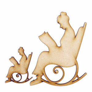 3mm Mdf Wooden Laser Cut Shapes Various Sizes Grandma On Rocking