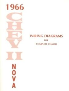 chevy ii nova 1966 wiring diagram 66 ebayimage is loading chevy ii nova 1966 wiring diagram 66