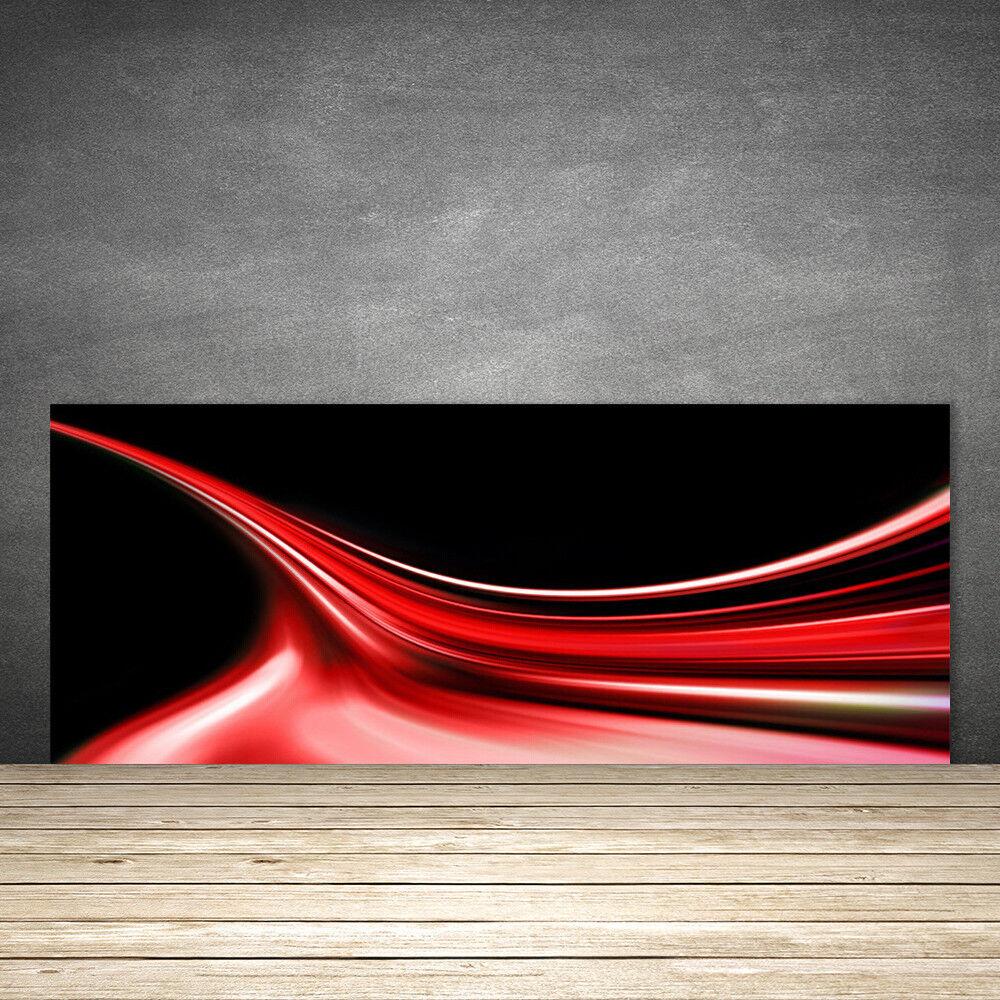 Crédence de cuisine en verre Panneau 125x50 Art Lignes Abstraites