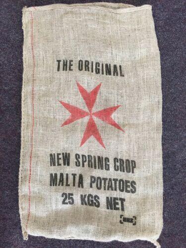 VINTAGE Hessian Potato Sacks x10 The Original Malta Star!!