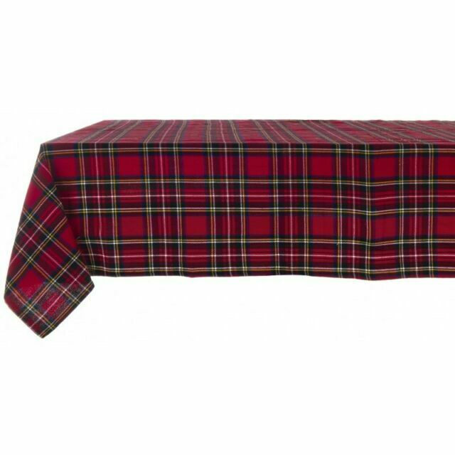 Red Checkered Tablecloth Rudloph 160 X 300 Cm By Blanc Mariclo For Sale Online Ebay