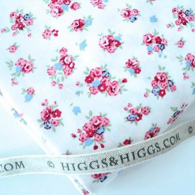 FORGET ME NOT - WHITE - SPRING FLORAL 100% COTTON FABRIC patchwork craft fashion
