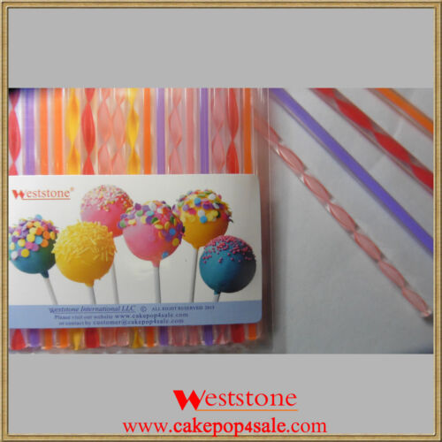 "30 pcs 6/"" reusable Acrylic sticks for lollipop candy cake pop or Candy Apple"