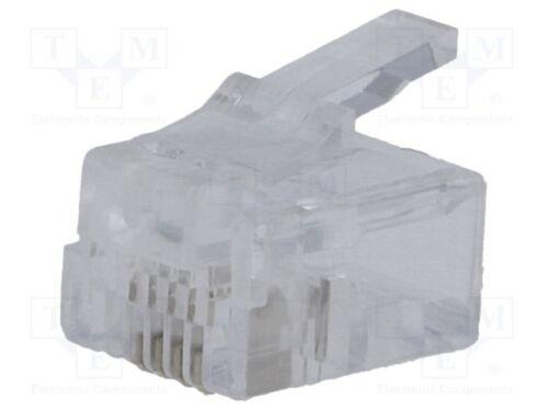 Klemmverbindung 10 st Stecker; RJ11; PIN:4; Ausg.-Sys:6p4c; IDC