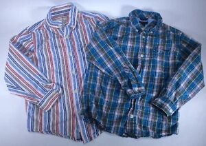 00484bc0 Tommy Hilfiger Children's Place 2 Boys Small 5/6 Button Front Long ...