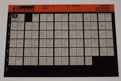 UnermüDlich Ersatzteilkatalog Microfich Parts Catalog Mariner Outboards 200 Dfi 3.0 L 1997 Hochwertige Materialien Service & Reparaturanleitungen