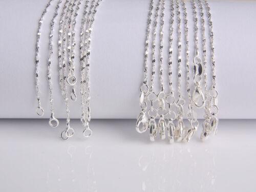 5PCS 16-30 in vente en gros bijoux lot 925 Silver Star Chaîne Collier Pour Pendentif