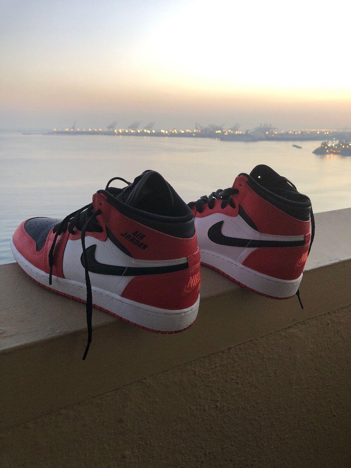 Nike Air Jordan Ones orange 6y