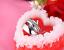 Anello-Anelli-Coppia-Fedi-Fede-Fedine-Fidanzamento-Acciaio-Cristallo-Paio-Regalo miniatura 2