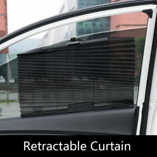 1Pcs Retractable Car Window Roller Blinds Sun Block Shade Anti-UV Sunshade Mesh