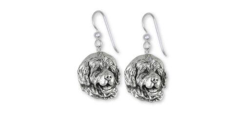 Newfoundland Earrings Jewelry Sterling Silver Handmade Dog Earrings NU3-E