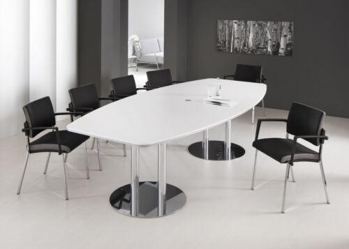 Konferenztisch Säulenfuß Buche 2200 x 1050 mm Meetingtisch NEU+OVP