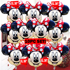 "36/"" XL MICKEY Minnie Mouse Birthday Balloon PARTY balloons Red supplies favors"