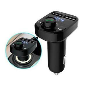 Wireless-Bluetooth-Handsfree-Car-FM-Transmitter-MP3-Charger-USB-Dual-Kit-B9J1