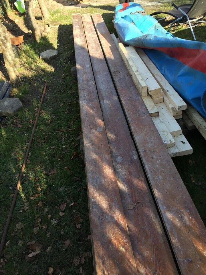 Missive fyrtræs gulvplanker , massiv, 32 mm