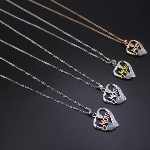 Colgante de Diamantes de Imitación Plata Hembra amor corazón collar del Rhinestone Chicas Joyería 6A