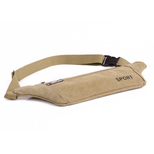 Women Men Fanny Pack Waist Belt Bag Canvas Purse Travel Camping Hiking Pocket
