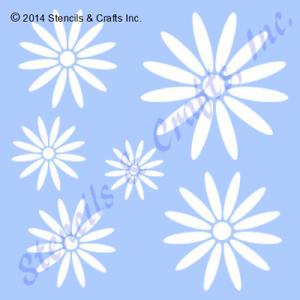 daisy stencil many sizes stencils flower template paint art craft