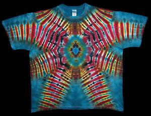 T Shirt Gr.S 5XL kurzarm handgefärbt Hippie Tie dye Batik