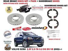 Para Volvo XC90 T6 D3 D5 V8 3.2 2002 - > Discos De Freno Trasero Conjunto + almohadillas + kits de montaje