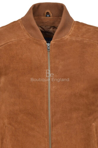 Men/'s Tan PLAIN Suede Classic Biker Style Italian Fitted Real Leather Jacket 275